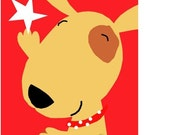 Dancing Star Dog Greeting Cards - set of 5