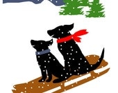 greeting cards black labs mix