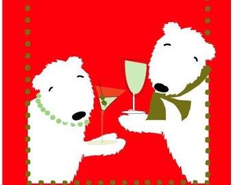 greeting card polar bears more ice please dear