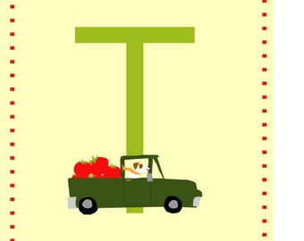 letter t nursery alphabet card