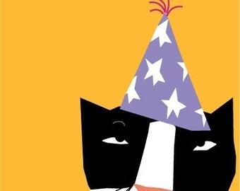 cranky cat birthday card
