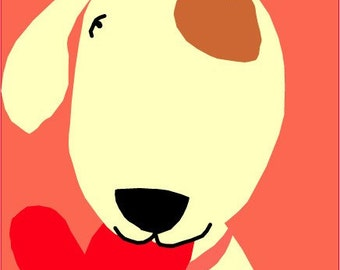 card collection I love you dog  sweet pup with heart