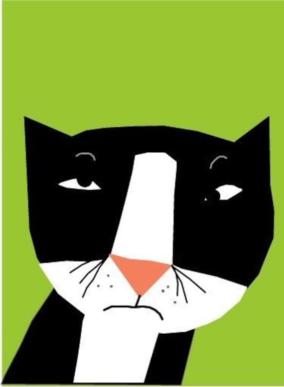 card collection  bad attitude tuxedo cat