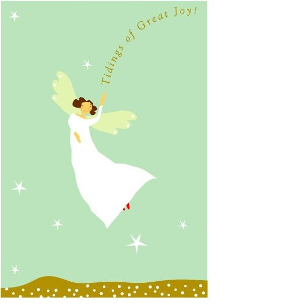 greeting card collection glad tidings angel card