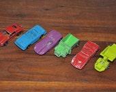 Vintage metal tootsie cars- lot of six