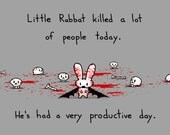 Little Rabbat Had a Productive Day 8.5x11 Art Print