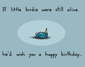 Dead Bird Birthday Card