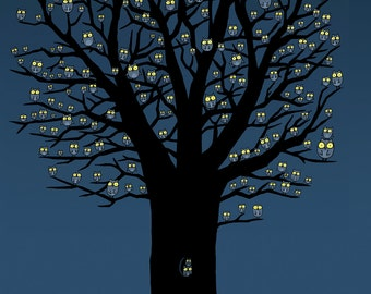 Owlie Tree Greeting Card