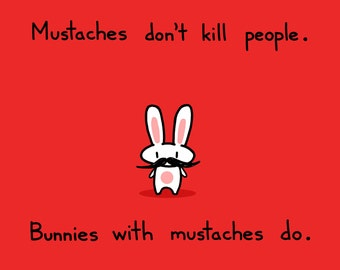Mustache Bunny Art Print