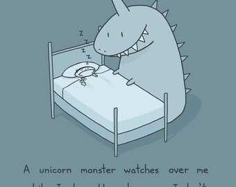 Unicorn Monster Art Print