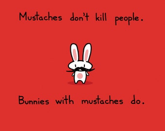 Mustache Bunny Greeting Card