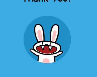 Thank You Rabbit Card