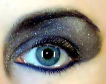 Glitter Eye Shadow Makeup Black Mineral Eye Shadow Goth Glam Chic