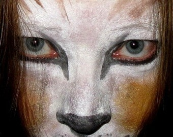 Stage Play Halloween Costume Makeup Cat or Lion Kit Face Paint