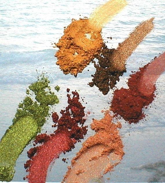 Autumn Fire Eye Shadow Collection Vegan Mineral Makeup Kit