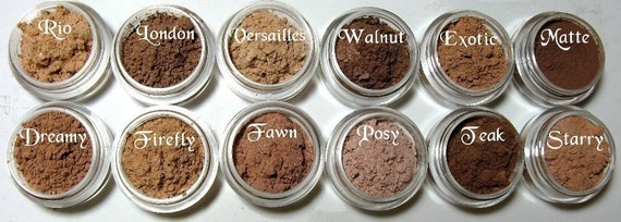 Blush Bronzer Glow Sample Size with Sifter Jar Your Choice Pink Quartz Minerals Makeup
