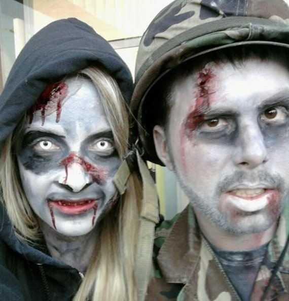 Zombie Vegan Makeup Kit Zombie Prom Stage and Halloween Non Toxic Safe for Kids Face Paint