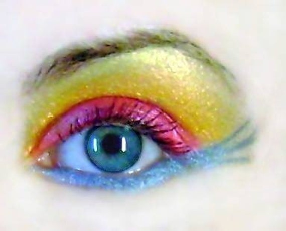 Bright Eye Shadow Kit Add Your Own Sparkle Purple Blue Yellow Red