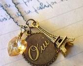 Oui, J'adore Paris Necklace (champagne heart)