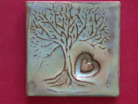 sweetheart tree handmade tile