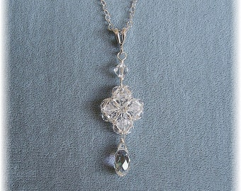 Regal Crystal Wedding Pendant, Bridal Jewelry, Bridal Pendant, Wedding Necklace