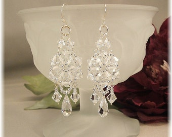 Crystal Chandelier Earrings, Bridal Chandelier Earrings, Wedding Day Earrings, Formal Earrings, Long Earrings
