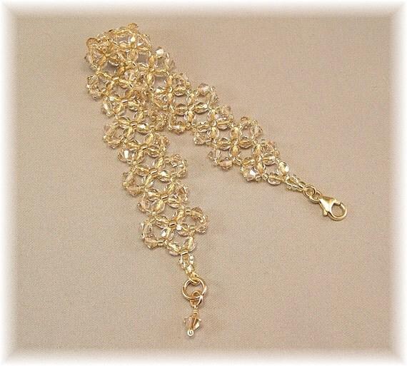Woven Golden Hues Bridal Cuff Bracelet