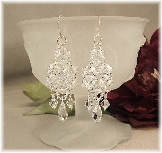 Crystal Chandelier Earrings, Bridal Chandelier Earrings, Wedding Day Earrings, Formal Earrings, Long Earrings