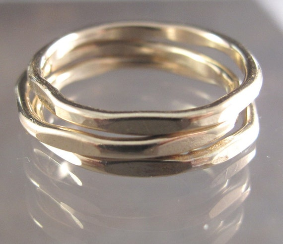 Gold Filled Tow-Tow Stacking Rings - You Choose the Size  - Individually