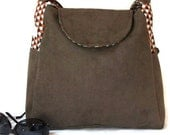 Faux Suede Handbag with Style and Pocket Power