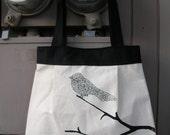 Large Black bird bag by Rachel