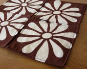 Brown Bloom Coasters