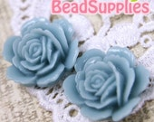 Special Offer - CA-CA-05814 - Layered Peony Cabochon, Indicolite blue,4 pcs