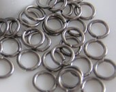 FD-JR-07002 - Gunmetal Black jump rings 72 pcs (18 gauge) 6mmx1mm