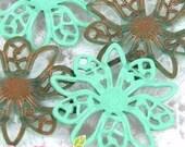 FG-FG-09004- Nickel Free 10 petal lotus filigree,Mint 4 pcs