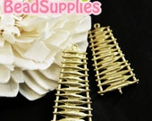CH-ME-02092 - Matted Gold plated, Tree Ladder, 4 pcs