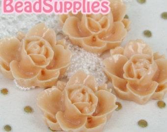 CA-CA-05401- Lotus Flower- peach, 4 pcs