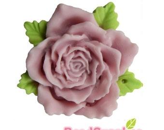 CA-CA-05002 - NEW - Big Flat Rose, Lilac, 2 pcs