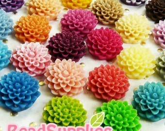 CA-CA-052S1 - Colorful Pom Pom Mum Sampler, 60 pcs