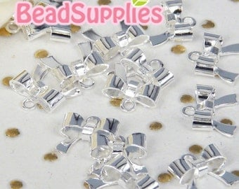 Wholesales - CH-ME-09116 - Nickel Free, Silver plated very Petite ribbon, 72 pcs
