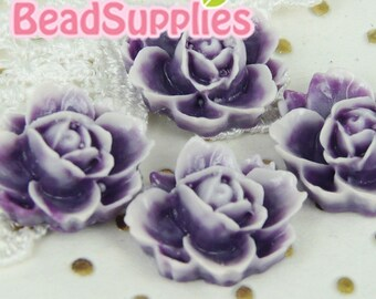 CA-CA-05418- Lotus Flower- Purple/Lilac, 4 pcs