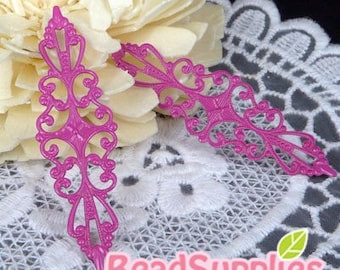 NEW - FN-RB-09022- Nickel Free Rose Colored Art Nouveau Filigree for ring base, 10 pcs