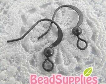 Wholesale - FN-ER-07006 - Nickel Free, Lead Free Gunmetal stamped Earwire, 72 pairs (144 pcs)