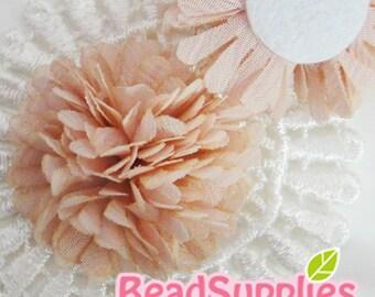 FA-FL-03003 - Fabric Pom Pom (M), pink,  2 pcs