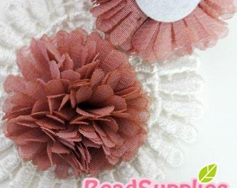FA-FL-03004 - Fabric Pom Pom (M), dusty pink,  2 pcs