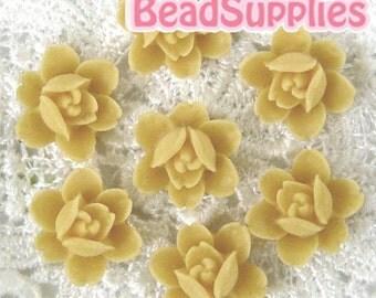 CA-CA-04918 - 6-petal Flat rose-almond, 4 pcs