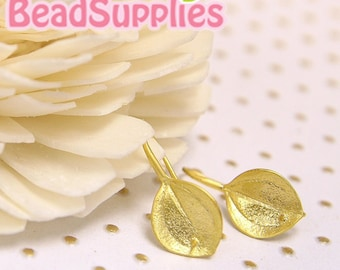 Clearance - FN-ER-02021 - Nickel Free, Gold plated Palm leaf Earwire , 4 pairs