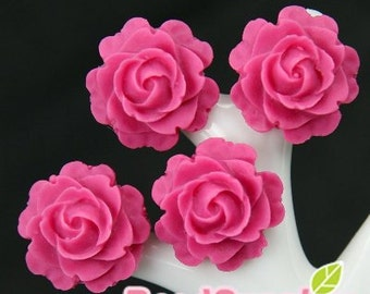 CA-CA-01111- Small round rose - raspberry, 4 pcs