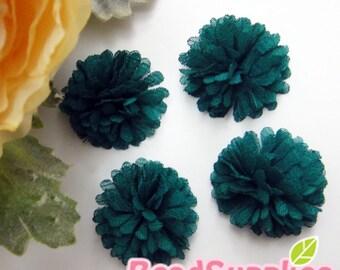 FA-FL-02009 - Fabric Pom Pom (S), teal, 4 pcs