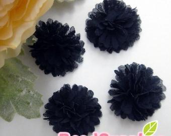 FA-FL-02010 - Fabric Pom Pom (S), black, 4 pcs